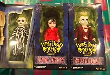 MEZCO TOYZ LIVING DEAD DOLLS BEETLEJUICE LYDIA WEDDING SET AND BEETLEJUICE