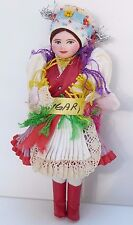 "Vintage Hungarian Doll Girl-Traditional Dress -Detailed 7"" Hölgy from Hungary"