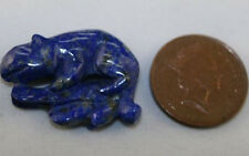 NATURAL LAPIS LAZULI LOOSE GEM HAND CARVED GEMSTONE SALAMANDER 24.4CT LA02