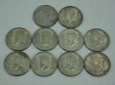 Mixed Lot of Kennedy Half Dollar Silver Coins Lot of 10 Coins