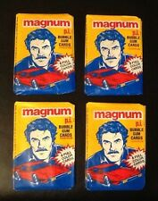 Magnum PI TOM SELLECK 1980's TV Show Unopened wax packs of cards (4) + FREE SH