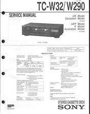 Sony Original Service Manual für TC-W 32 / W 290