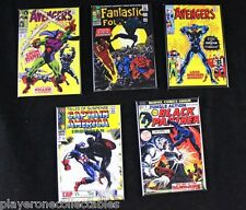 "Lot of 5 The Black Panther Comic Book Cover 2"" X 3"" Fridge Magnets. Avengers"