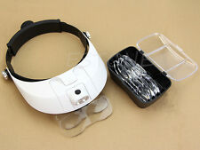 LED Illuminated Headlamp Magnifying Glass with Light Head Dental Surgical Loupe