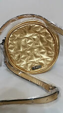 Mimco Leather METEOR Circle Hip Across body Hand Bag BNWT Gold RRP  $299