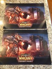 World of Warcraft Warlords Of Draenor Poster LOT OF 2 POSTERS Video Game - 2014