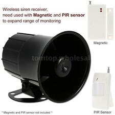 Super Power Alarm Siren Horn Outdoor Bracket Home Alarm System Security New E0W6