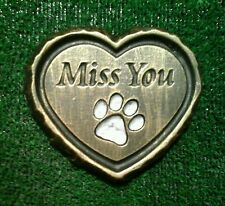 Small heart Pet Memorial/headstone/stone/grave marker/memorial paw print  silver