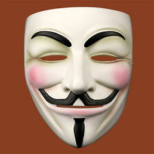 V For Vendetta Movie Resin Costume Cosplay Mask Guy Fawkes Anonymous Halloween