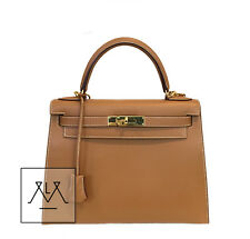 Hermes Kelly Sellier Bag 28cm Gold GHW Swift Leather - 100% Authentic