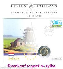 Europäische Numisbriefe Ferien: Niederlande - Münze 2003, Stempel 2004, 1 Euro