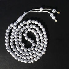 WHITE SILVER Islamic 99 Prayer Beads Tasbih