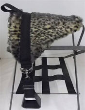 PONY BAREBACK PAD SADDLE  WITH STIRRUPS FURRY CHEETA