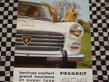 brochure PEUGEOT 404 BERLINE CONFORT 1968  français couleurs