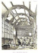 Adlington Hall, cerca de Adlington, Cheshire-Litografía después de Joseph Nash - 1871