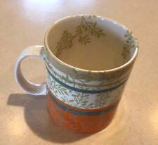 Starbucks  2008 14oz Leaves Branches Orange Blue Coffee Mug