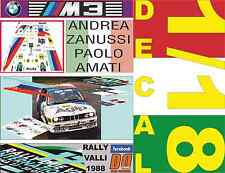 DECAL 1/18 BMW M3 ANDREA ZANUSSI RALLY VALLI 1988 (03)