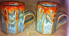 Vintage MICHAEL COHEN Two Octagonal Pottery Mugs