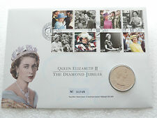 2012 Royal Mint Queens Diamond Jubilee £5 Five Pound Crown Coin First Day Cover
