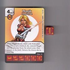 DICE MASTERS UNCANNY X-MEN UNCOMMON #75 MAGIK LIGHTCHYLDE CARD WITH DICE