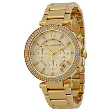 Michael Kors Parker MK-5354, Parker Yellow Gold Chronograph Watch for Women