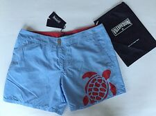 New w Tags & Bag Authentic Vilebrequin Meperfo Light Blue Swim Trunks - Men 2XL