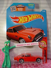 Case B/C 2016 Hot Wheels ASTON MARTIN 1963 DB5 #101✰Red; bbs✰Then and Now