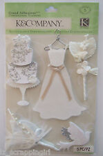 ~FOREVER YOURS ICON~ Grand Adhesions Stickers K & Company Co BRIDE WEDDING DRESS