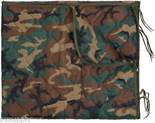rain poncho liner woodland camo rip stop works as sleeping bag rothco 88476