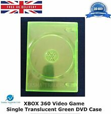 100 x Xbox 360 Video Game Single DVD Case Translucent Green Replacement Cover