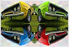 1970 Plymouth Road Runner Photo Art Print Poster 13x19 426 HEMI 440 383 MOPAR