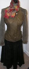 Woman's leather suit ---jacket FRENCH CONNECTION  + Leather skirt Size S-M