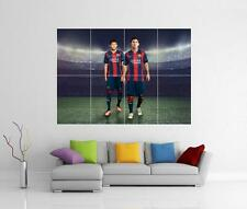 LIONEL MESSI AND NEYMAR JR BARCELONA BARCA GIANT WALL ART XL PRINT PHOTO POSTER