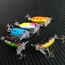 5x Mini Cicada Topwater Popper Fishing Lures Pencil Surface Saltwater Tackle
