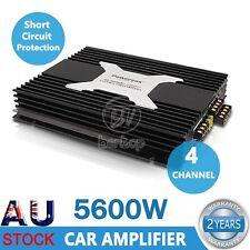 5600W PowerVox 4 Channel Car Amplifier Amp Audio Truck Black Amplifiers Speaker