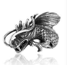 Dragon Open Chinese Style Ring Man's Stainless Steel Statement Piece Au Ship