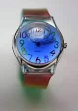 Ladies/girls Rainbow Oil Bubble Watch. It Has Blue Liquid thatMoves Around-USA