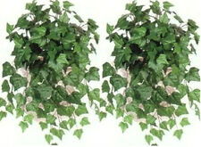 TWO Artificial 23 inch Oxford Ivy Bush Green Plant Arrangement Flower Floral