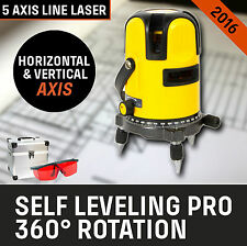 NEW Laser Leveling Self Level Rotary Rotating Line Cross Red Beam Levelling 4V1H