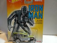 Hot Wheels Marvel Iron Man Green '34 Dodge Delivery w/Real Riders