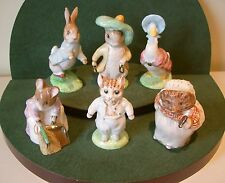 BESWICK BEATRIX POTTER GOLD/ EDITION ~COMPLETE SET OF 6 FIGURES MINT & BOXED.