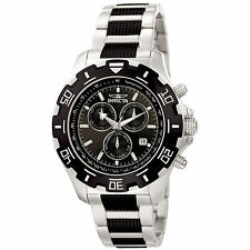 Invicta 6407 Men's Python Two Tone Steel Black Dial Chrono Watch