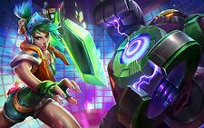 Poster A3 League Of Legends Riven Blitzcrank Recreativa Jefe Final Arcade LOL