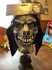 White Shrouded  Skull Mask with Hood