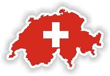 Suiza Mapa Bandera Sticker Silueta parachoques Scooter Patineta Laptop Nevera