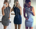 Women Sleeveless Party Evening Cocktail Summer Beach Short Mini Dress Hoodie LOT