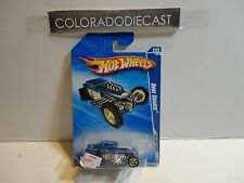 2010 Hot Wheels #143 Satin Blue Bone Shaker w/Gold 5 Spoke Wheels