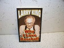 Why I Love Baseball by Larry King Paperback Book
