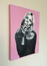 SAGE Original Kate Moss #1 Painting on Wood + banksy kaws obey sticker w/COA