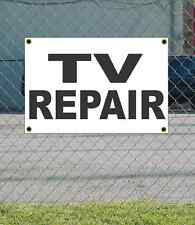 2x3 TV REPAIR Black & White Banner Sign NEW Discount Size & Price FREE SHIP